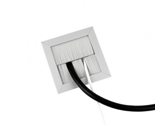 TecLines TKB001 Tisch Kabeldurchlass geteilte Bürstendichtung