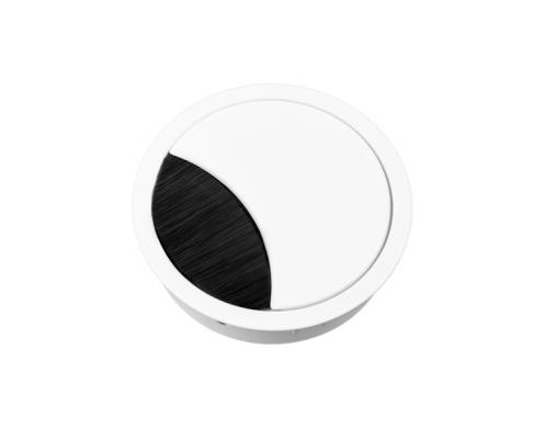 TecLines TKD001 Tisch Kabeldurchführung 60x21 mm, weiß