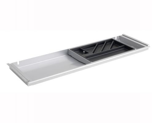 TecLines TUS001A Untertisch Schublade mit Kunststoffeinsatz L in Aluminium
