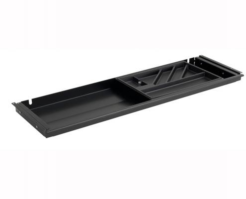 TecLines TUS001B Untertisch Schublade mit Kunststoffeinsatz L in schwarz