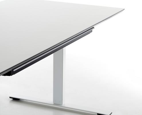 TecLines TUS001B Untertisch Schublade mit Kunststoffeinsatz L, Anwendung Schreibtisch Office