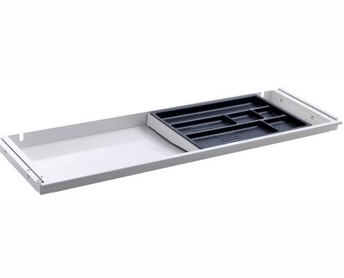 TecLines TUS001W Untertisch Schublade mit Kunststoffeinsatz L in weiß