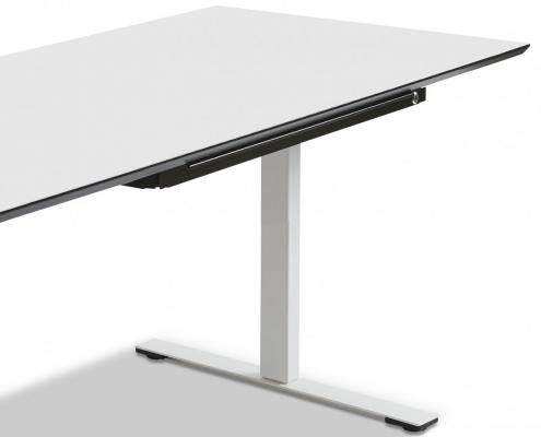 TecLines TUS001B Untertisch Schublade mit Kunststoffeinsatz L, abschließbar Anwendungsbeispiel Office Desk