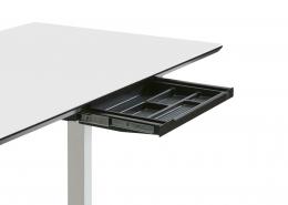 TecLines TUS003B ausziehbare Unterbau Schublade S, schwarz Anwendung Office Desk