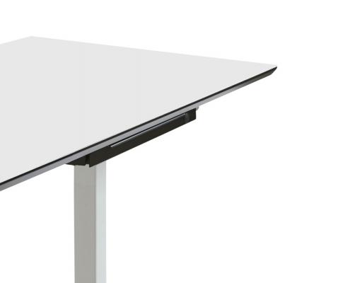 TecLines TUS003B ausziehbare Unterbau Schublade S, schwarz Anwendungsbeispiel Office Schreibtisch