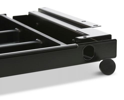 TecLines TUS003B ausziehbare Unterbau Schublade S, schwarz Schlosseinbau nachträglichmöglich